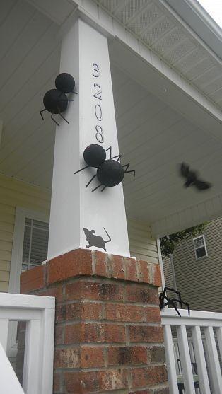 Riesige Halloween-Spinnen Riesige Halloween-Spinnen Riesige Halloween-Spinnen - so cool!Wir könnten diese überall auf Ihrem Garagentor anbringen!Einfach zu machen.