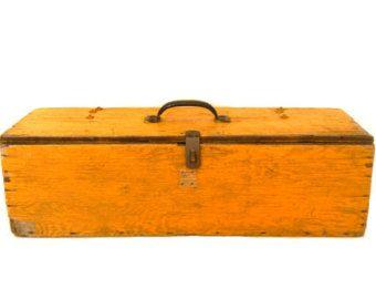 Primitive Yellow Wood Tool Box