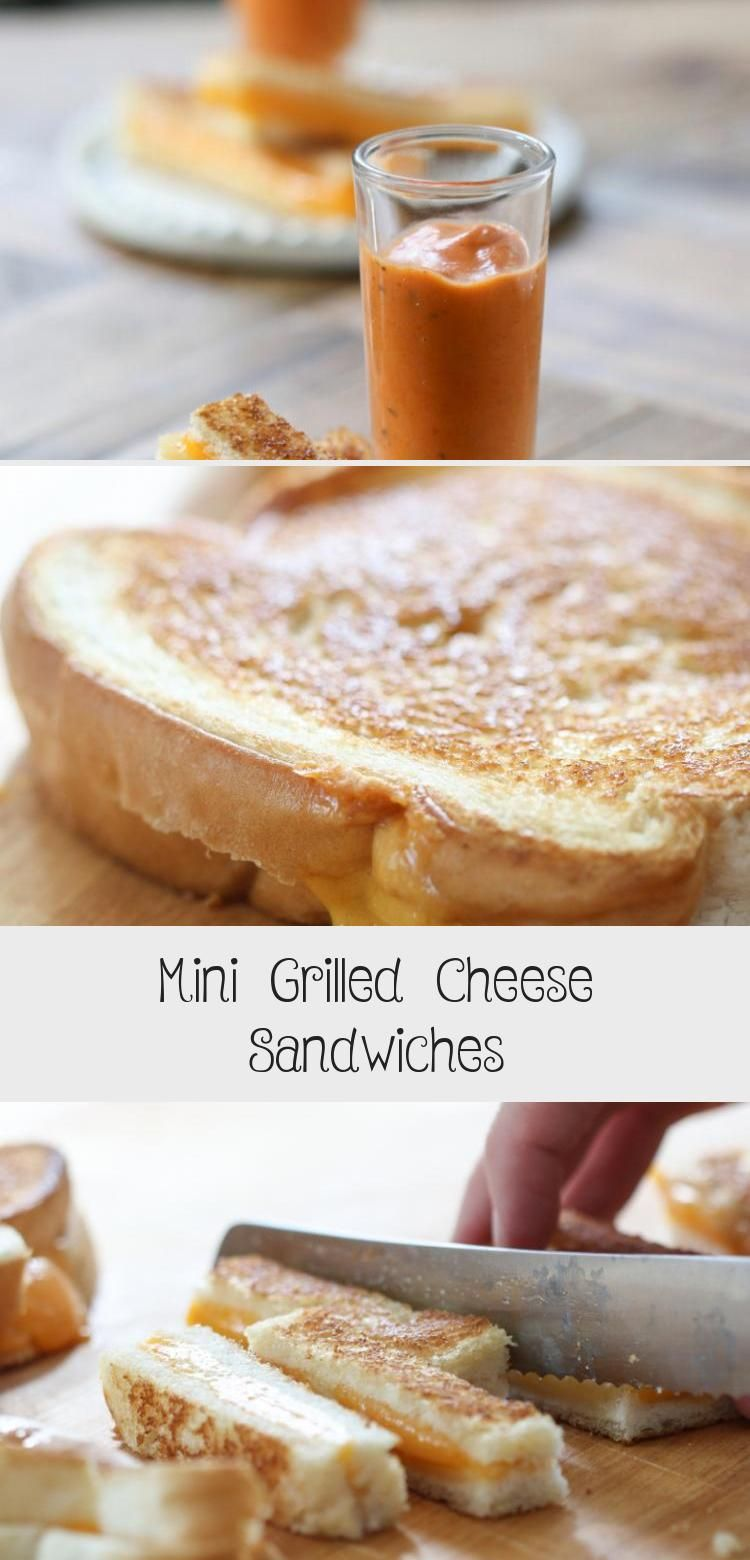 Mini Grilled Cheese Sandwiches in 2020 Mini grilled