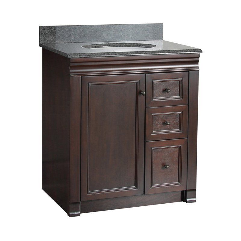 Foremost Shawna 30 In Single Bathroom Vanity With Right Side