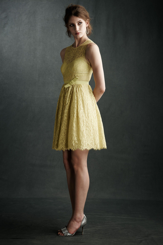 yellow dress, lace, love