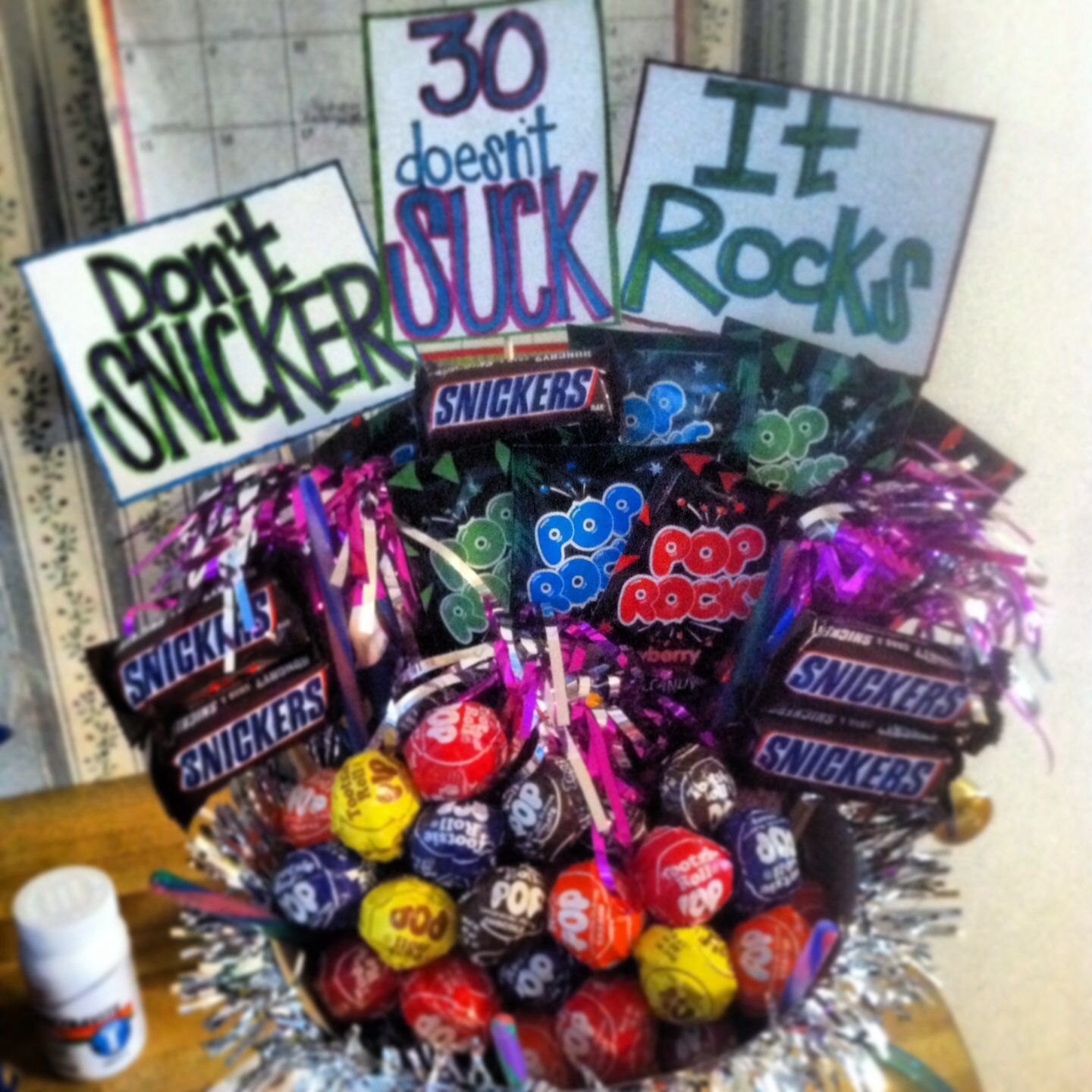 A candy bouquet i made for my sister in laws 30th birthday for Christmas gifts for 30 year old man
