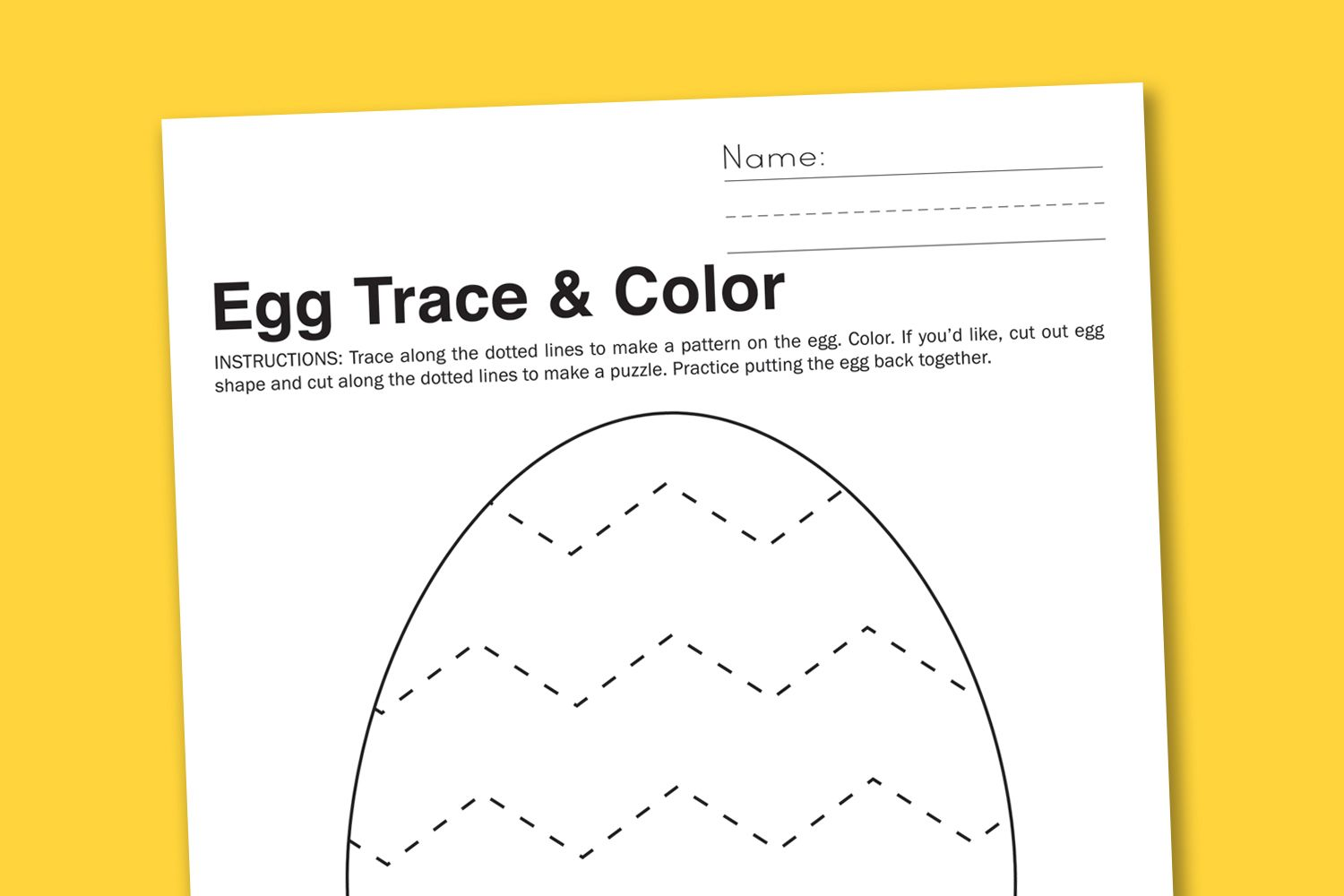 Free Printable Worksheet Chevron Easter Egg To Trace Color And Cut Ke Making Your Own
