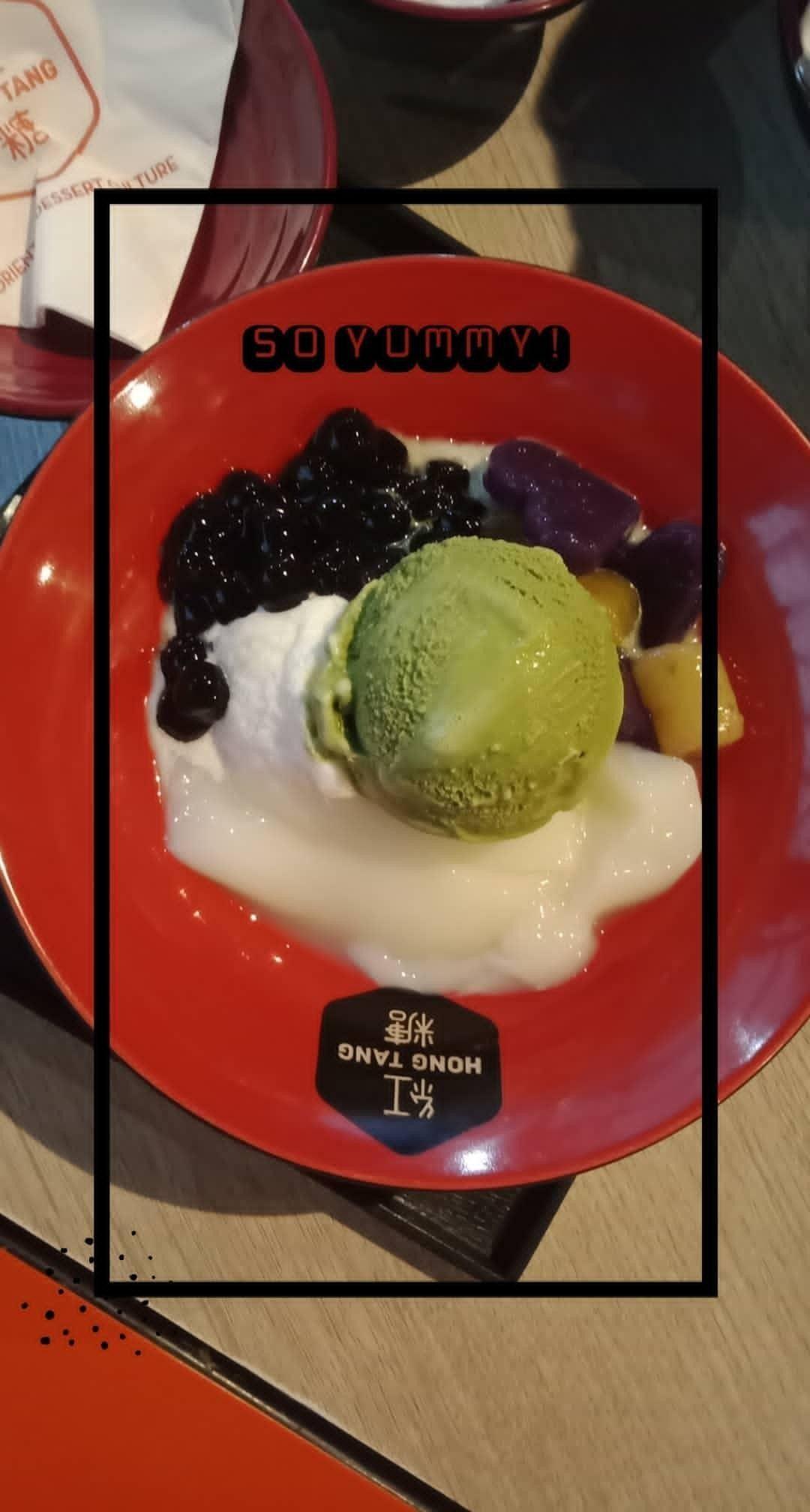 Hong Tang Ice Cream Matcha Story Ideas Instagram