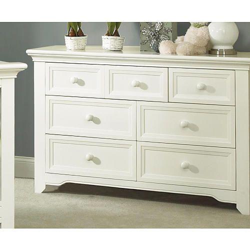 Baby Cache Harbor 7 Drawer Dresser White Baby Cache