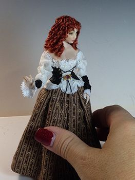 Dana Burton of Miniature Art - 1:12 scale Art Dolls #miniaturedolls