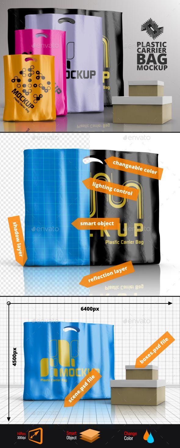 Download 4 Plastic Carrier Shopping Bag Mockups Bag Mockup Plastic Carrier Bags Shopping Bag