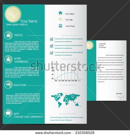 Resume Template - stock vector Maps Pinterest - stock resume