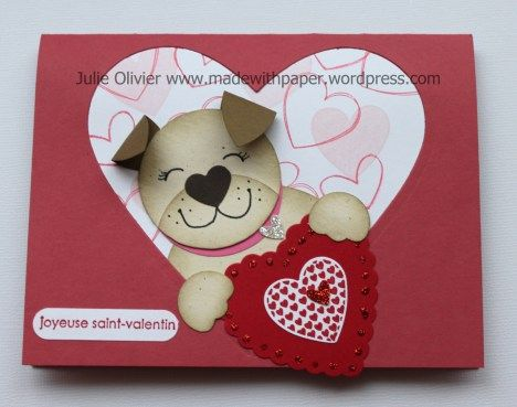 By Julie Olivier. Tools: Big Shot, Hearts a flutter Framelits, Hearts Collection framelits, 3/4″ Circle punch, 1-3/4″ Circle punch, Window punch, Blossom Petal Builder, small heart punch, Owl builder punch http://madewithpaper.wordpress.com/2013/02/15/punch-art-valentines-cards/