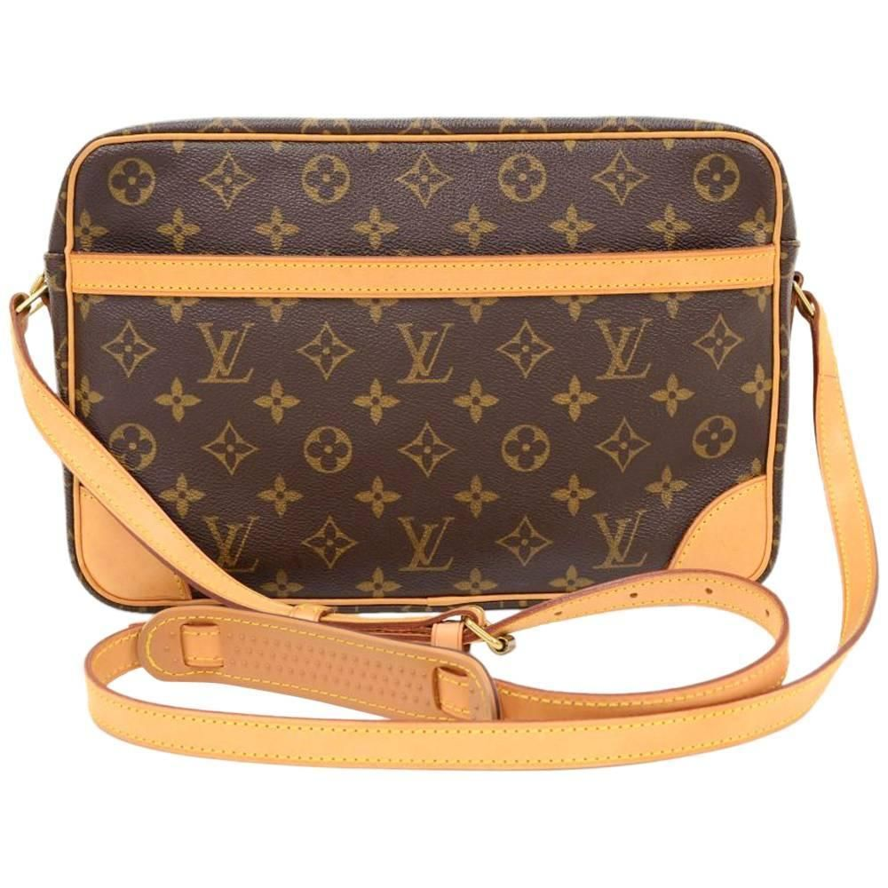 05fdcc4c3b8f Vintage Louis Vuitton Trocadero 30 Monogram Canvas Shoulder Bag 1980
