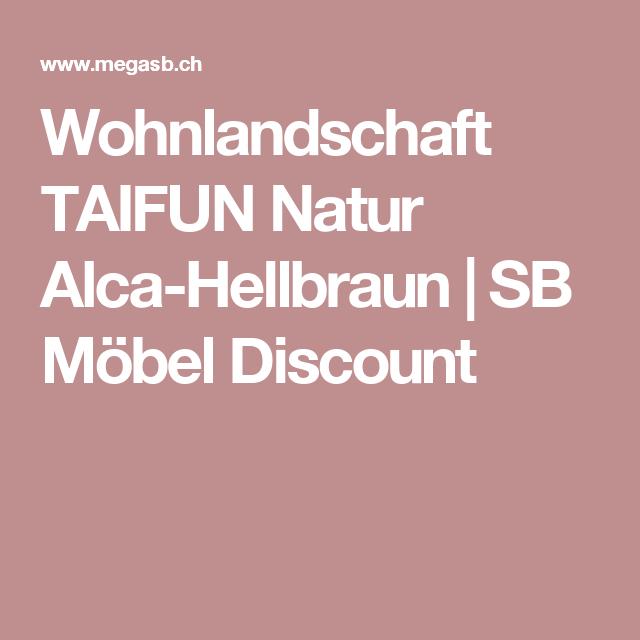 Wohnlandschaft Taifun Natur Alca Hellbraun Sb Mobel Discount