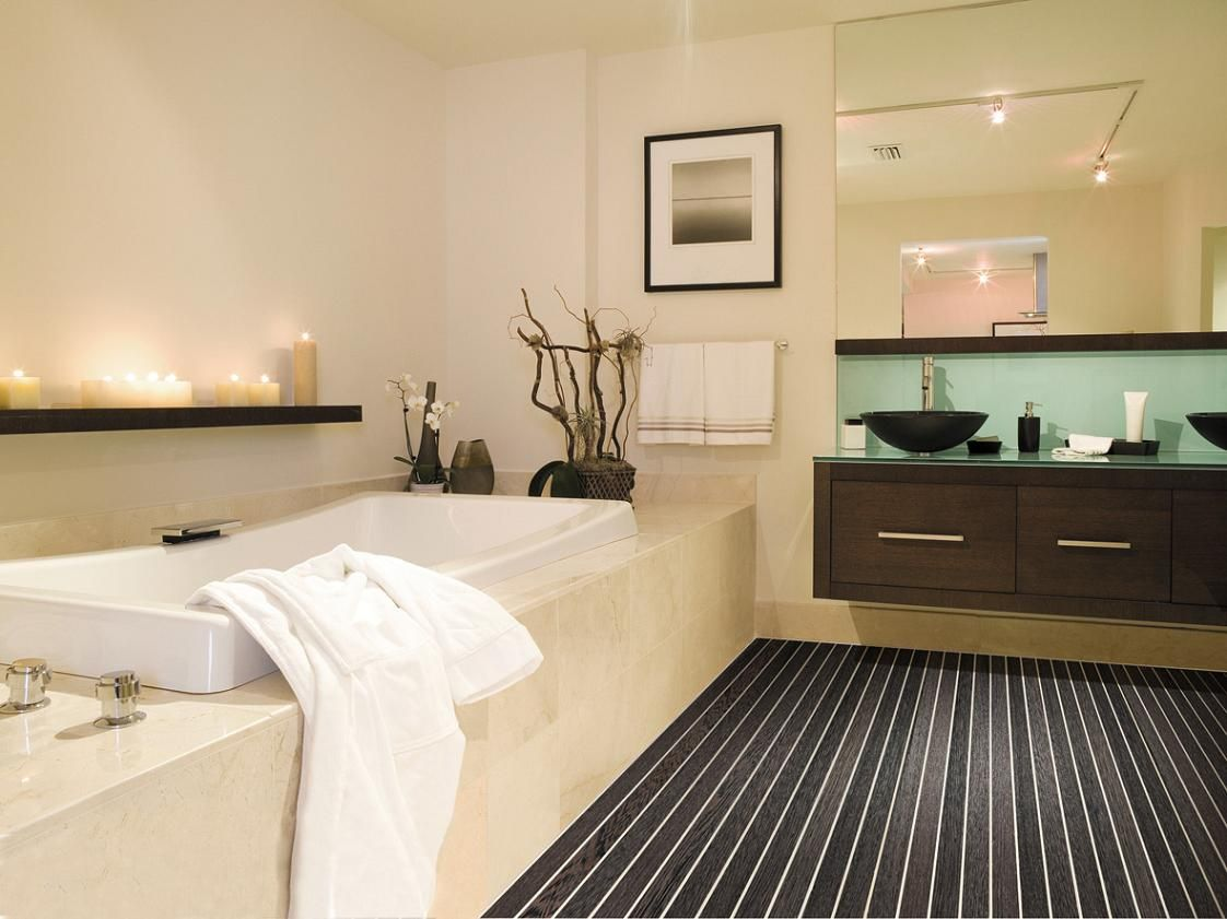 Salle De Bain Marron Et Beige dedans salle de bain design : réalisez une salle de bain design | salle
