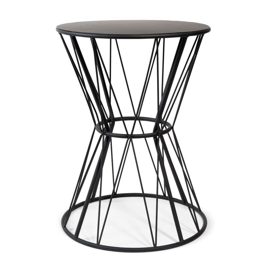 Black Metal End Table Bout De Canape Canape En Metal Bout De Canape Design