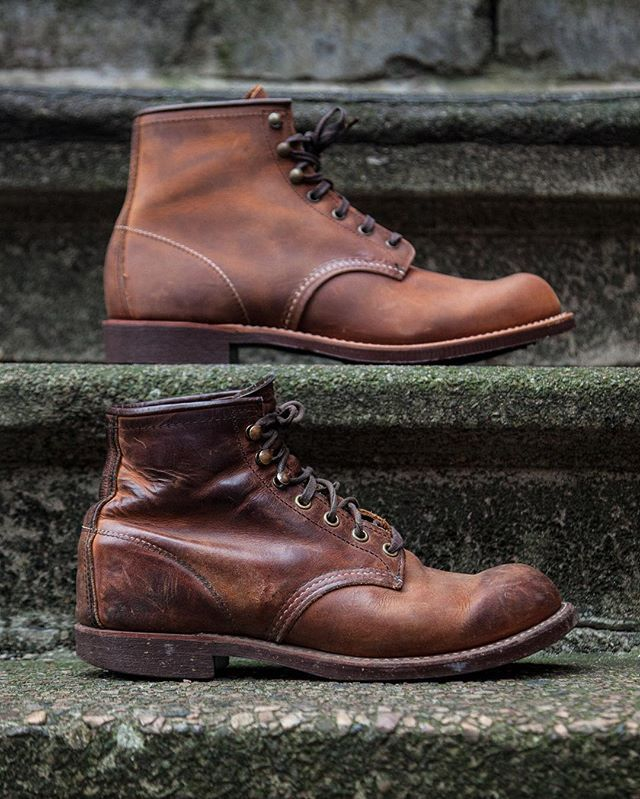 Red Wing Shoe Co.The 3343 Blacksmith in Copper Rough & Tough leather will patina with wear. : @christopherakesson for @meadowweb