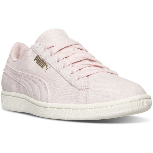 Puma Women's Vikky Canvas Casual Sneakers from Finish Line ($40) ❤ liked on  Polyvore