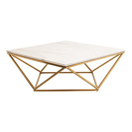 Dune Modern Marble Coffee Table Gold Base 36 Inchw Size 36 Inch Marble Top Coffee Table Steel Coffee Table Contemporary Coffee Table