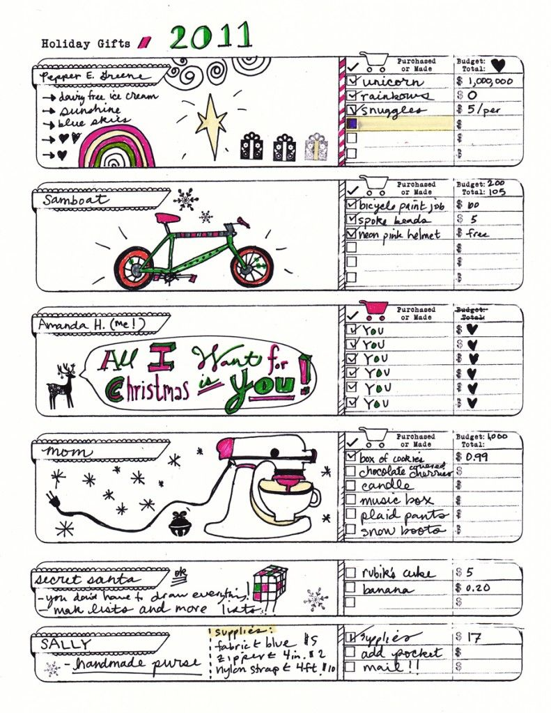 Holiday Gifts List - Amanda Hawkins | Holiday list, Planners and ...