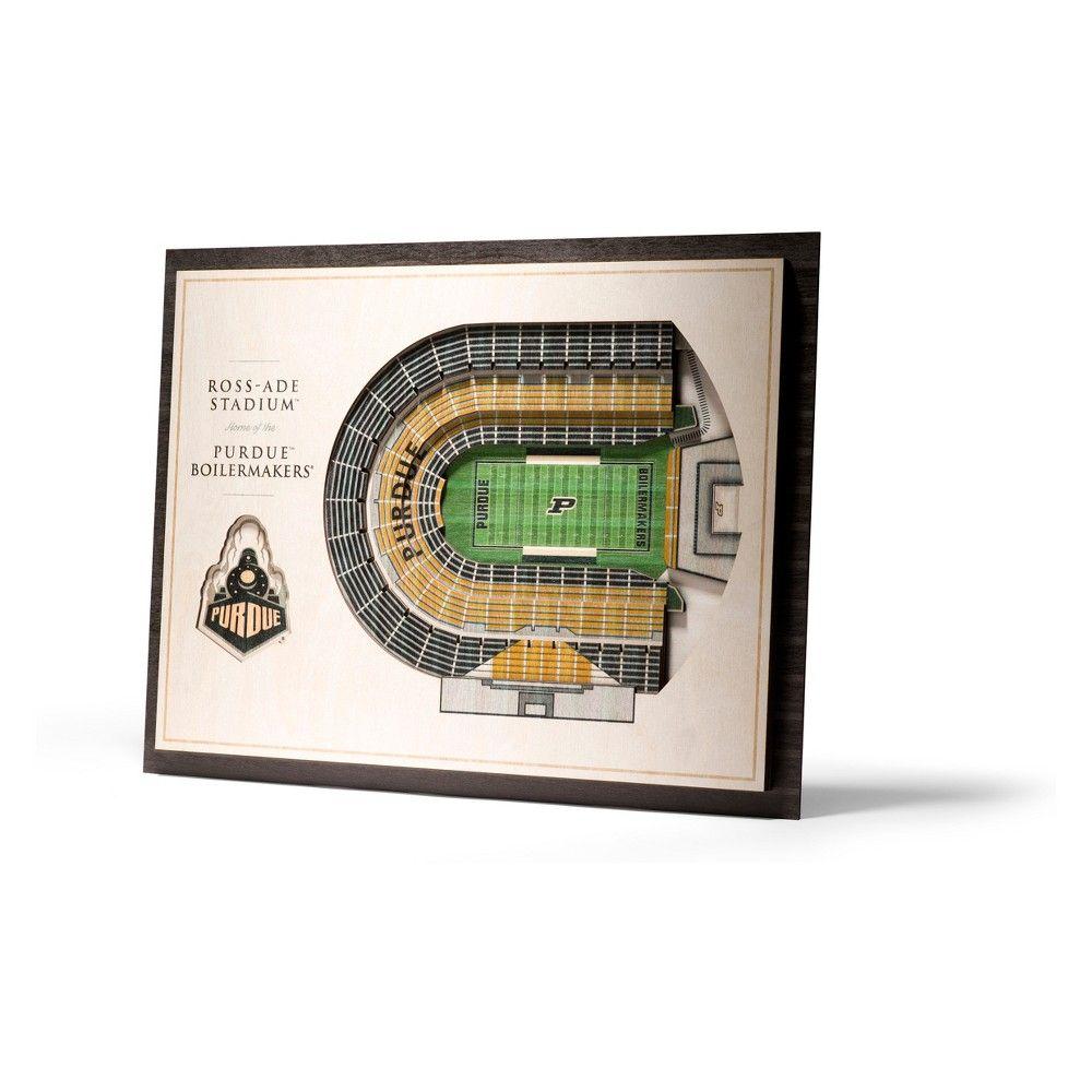 Ncaa Purdue Boilermakers 5 Layer Stadiumviews 3d Wall Art 3d Wall Art Wooden Wall Art Sports Wall Decor