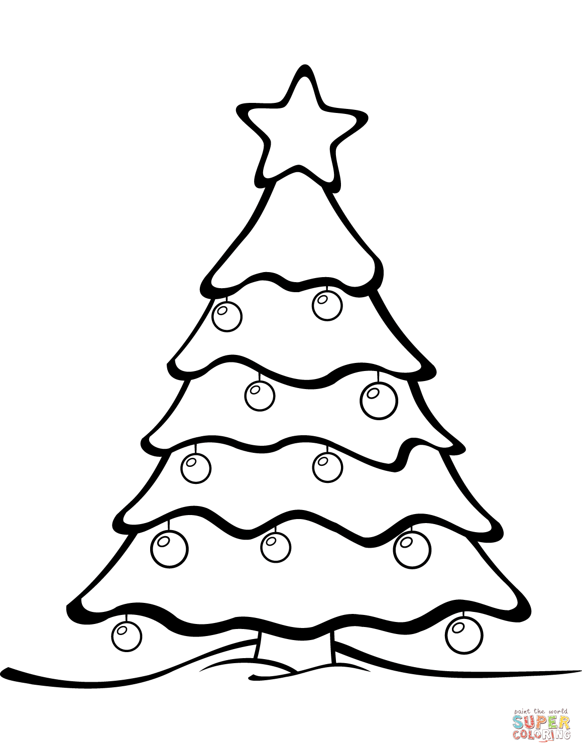 Christmas Tree coloring page from Christmas Tree category. Select ...