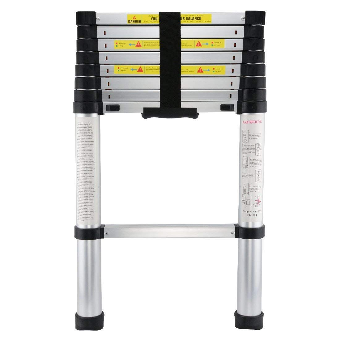 Upgraded 8 5ft Telescopic Extension Ladder With Spring Loaded Locking Mechanism Non Slip 330 Lb Max Check This Awesome Product Ladder Household Emergency
