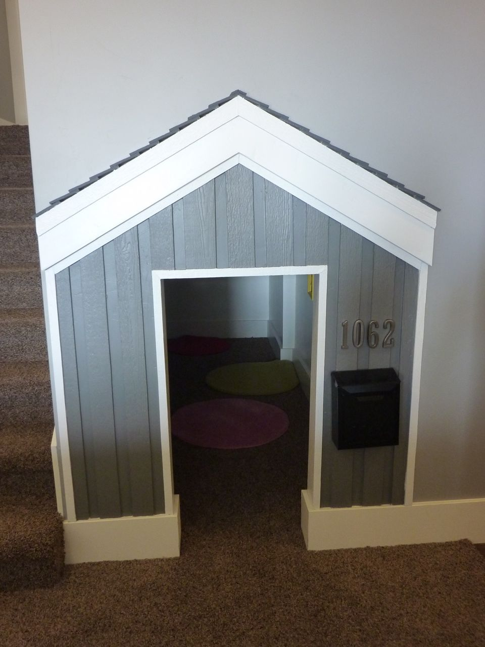 Under The Stairs Dog Under Stairs, Under Stairs Playroom, Dog Nook,  Basement Play