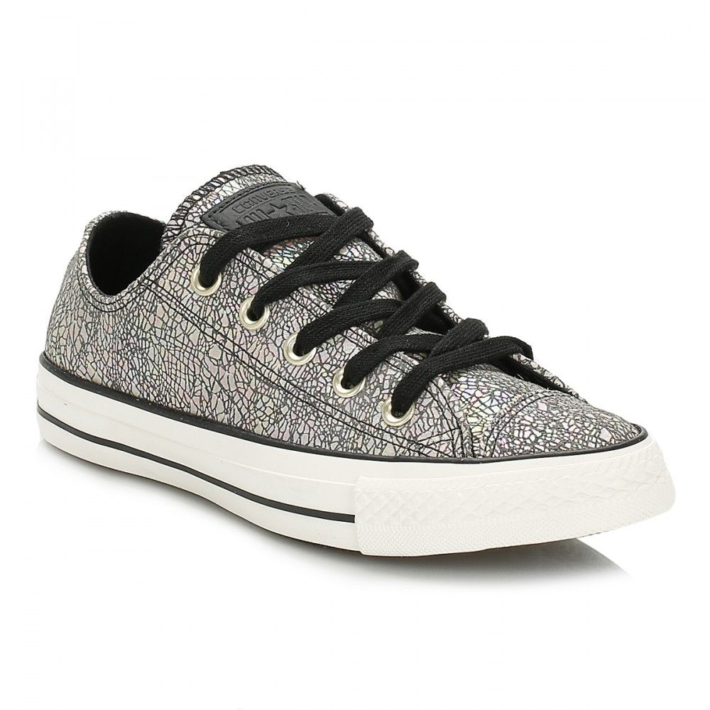 Converse Chuck Taylor All Star Ox Oil Slick Leather W Trainers Color: Silver