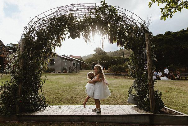 This is a gorgeous ceremony arbour. We know some brides worry about the structure being visible but we think it can create a whole new mood.