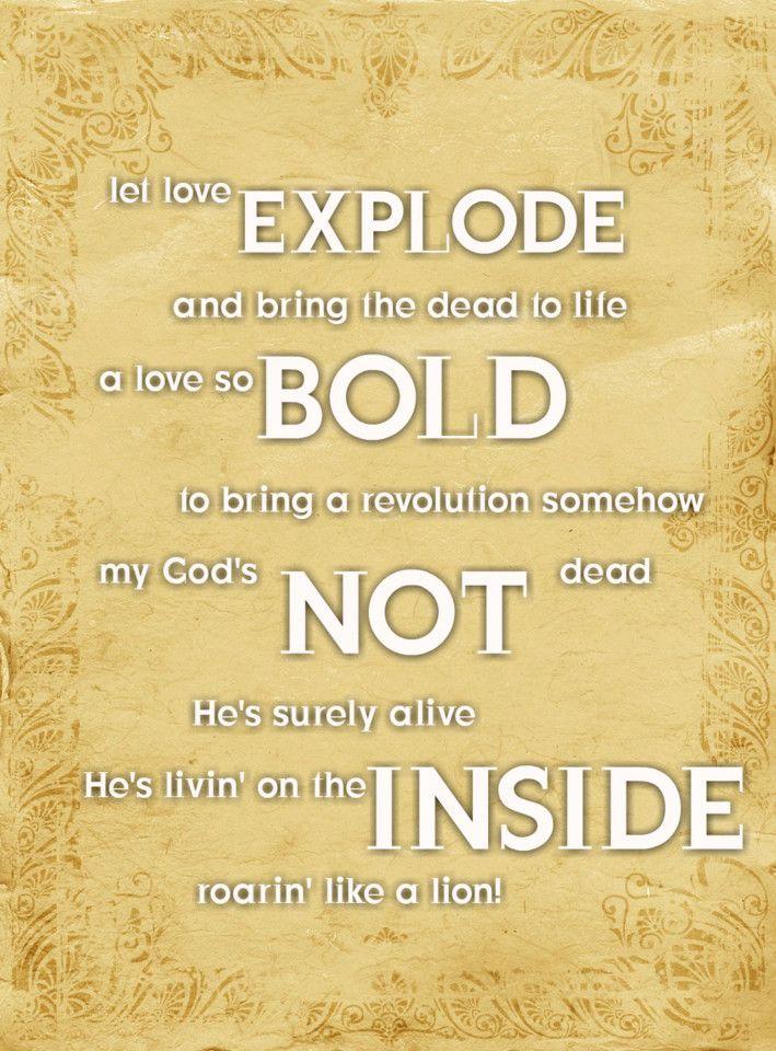 Lyric my god and i lyrics : Newsboys-Like a Lion (God's Not Dead)! <3<3<3<3<3 | R-Music ...