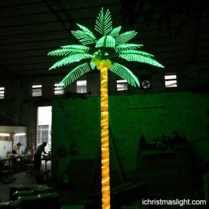 Artificial Coconut Tree With Lights For Sale Ichristmaslight In 2020 Coconut Tree Led Tree Tree