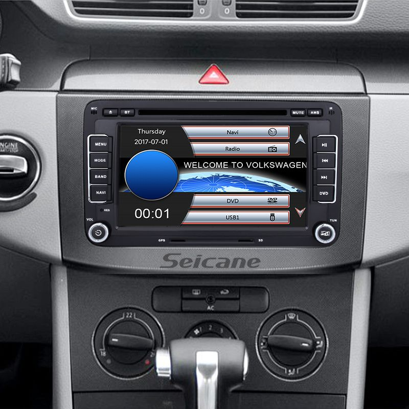 Seicane 7 Inch Hd Touchscreen 2 Din Universal Radio Dvd Player Gps