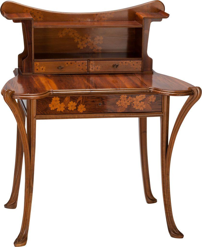 Louis Majorelle Mahogany And Marquetry Writing Desk Nancy Lot 62044 Heritage Auctions Art Nouveau Furniture Art Decor Decor