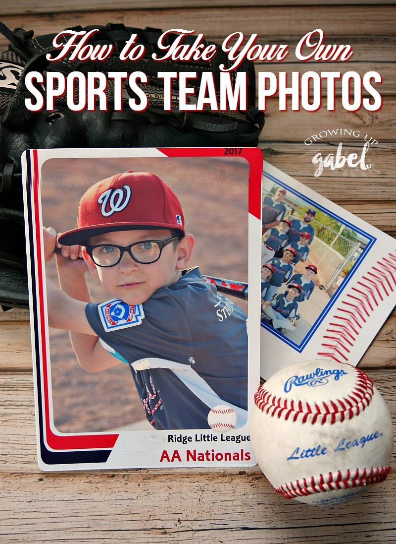 how to take and print your own sports team photos crafts