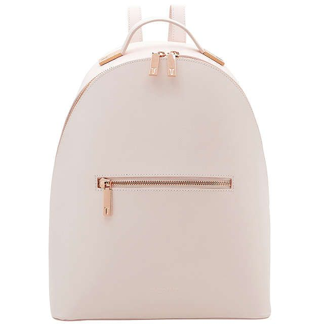 BuyTed Baker Jarvis Leather Backpack, Baby Pink Online at johnlewis.com