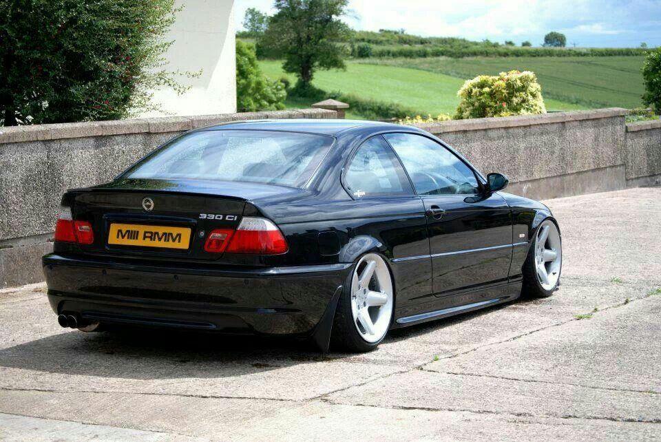 Bmw E46 3 Series Black Slammed Bmw E46 Sedan Bmw Bmw Wheels