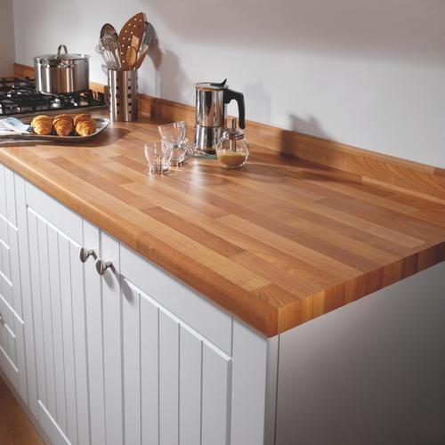 Laminate Wood Kitchen Worktops: Cherry Block Effect 3000 X 70 X