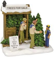 Scouting Village Tree Sales Figurine New Bsa Tree Sale Christmas Tree Sale Scout