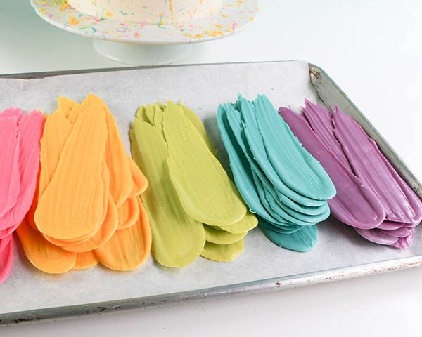 Brushstroke Cake #cakedecorating