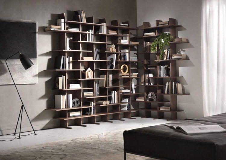 mobilier design pi ces pr sent es au salon du meuble de milan biblioth que murale mobilier. Black Bedroom Furniture Sets. Home Design Ideas