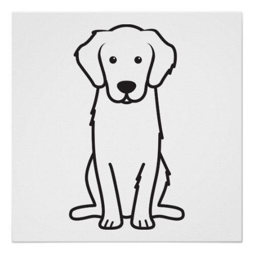 Golden Retriever Dog Cartoon Poster Zazzle Com With Images