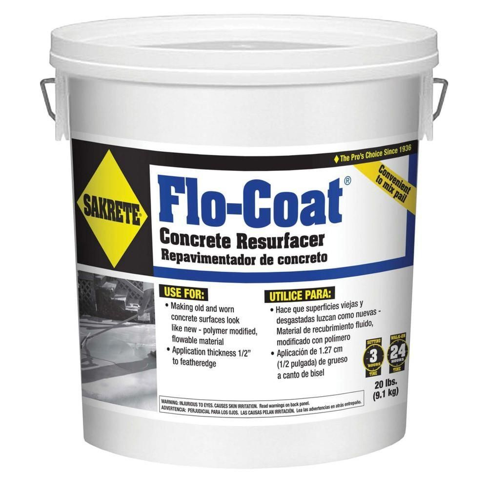 Sakrete 20 Lb Flo Coat Resurfacer 65450007 With Images Home Repairs Home Improvement Projects Home Improvement