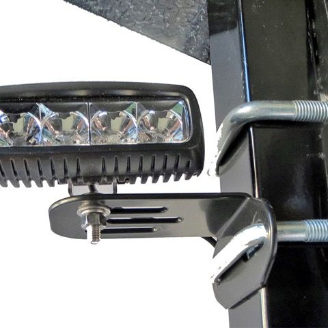 Roll Bar Mounted Light Bracket Pair For Tractors And