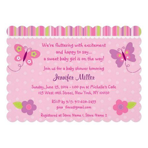 invitaciones para baby shower nina de mariposas