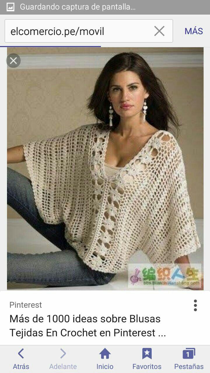 Pin By Maria Antonieta S On Lindo Crochet Sweater Crochet Woman Crochet Fashion