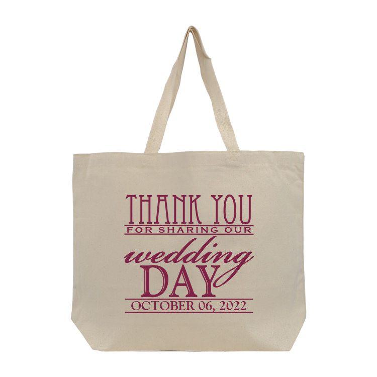 Wdttb206 Jumbo Cotton Canvas Wedding Tote Giant Wedding Bridesmaid Tote Wedding Tote Bridesmaid Wedding Tote Bag Wedding Tote Cheap Bridesmaid Gifts