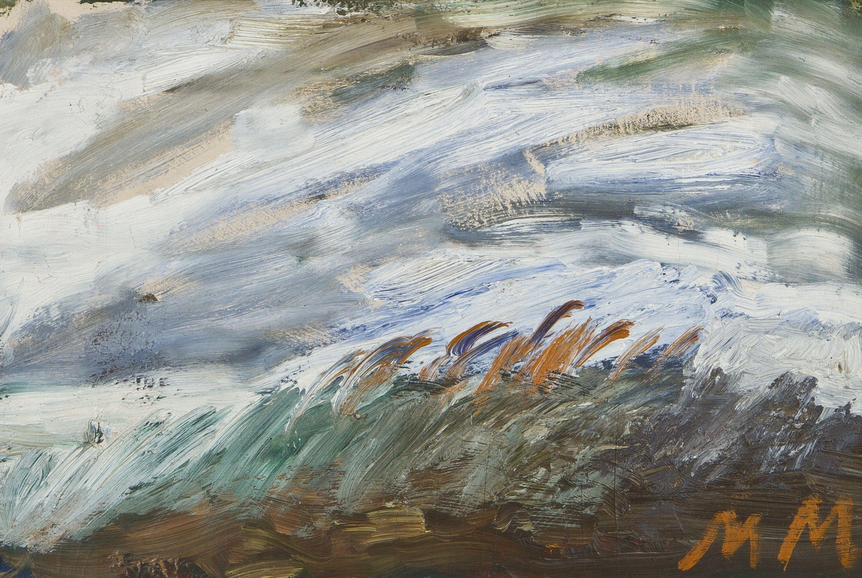 Mauno Markkula: Tuuli, öljy, 27x38 cm - Hagelstam A137