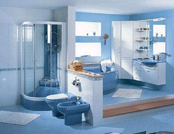 Bathroom simple bathroom color ideas blue showers for Blue bathroom ideas