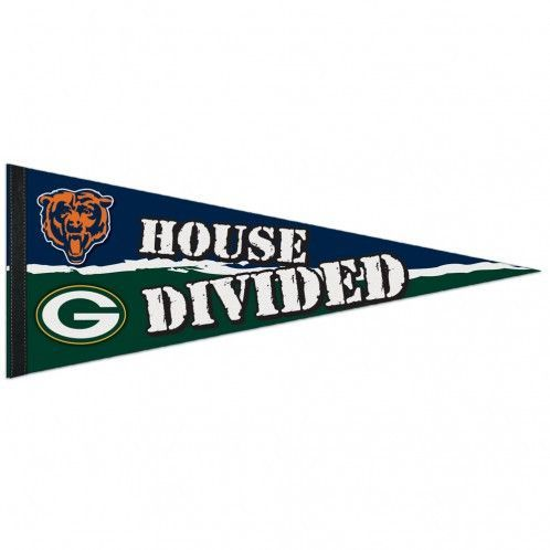 Green Bay Packers/Chicago Bears House Divided Premium Pennant
