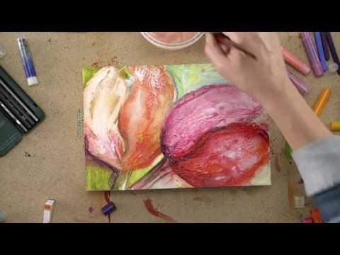 Malen Mit Kreide Und Acryl Tulpen Begleitvideo Zur Zeitschrift