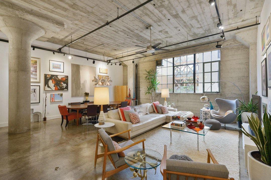 Artsy Loft In A Converted Warehouse Oakland Ca 2048x1365 Room
