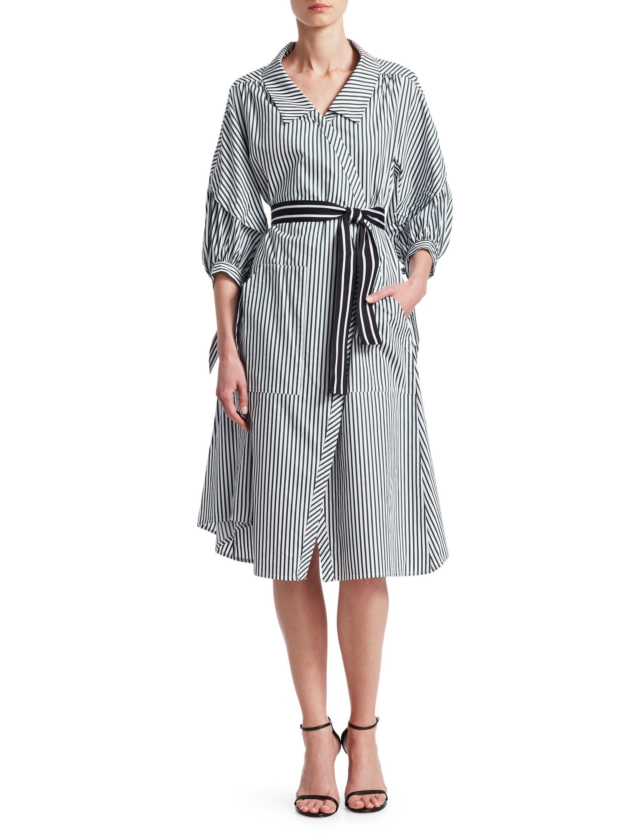 2da5222e57b Maje Rilucci A-Line Shirt Dress - Stripe 2 (Medium)